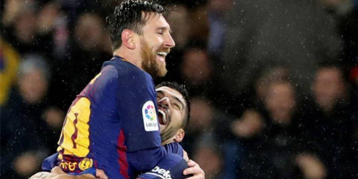 Barça sigue su camino de gloria guiado por Messi
