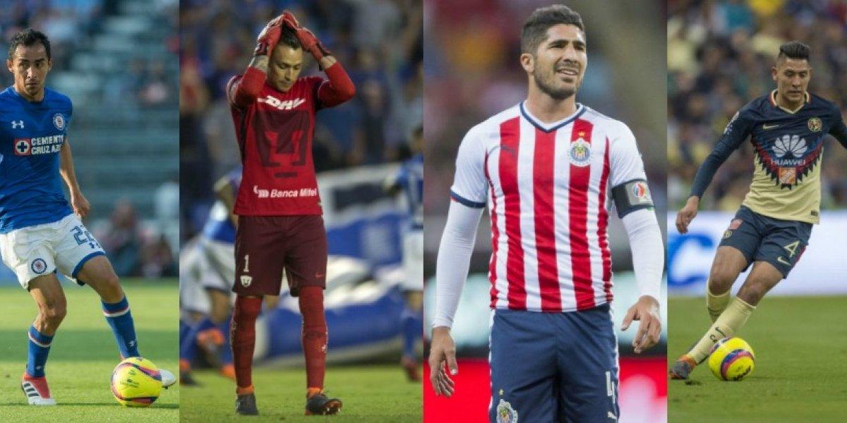 El paso de los cuatro 'grandes' hasta la Jornada 12 del Clausura 2018