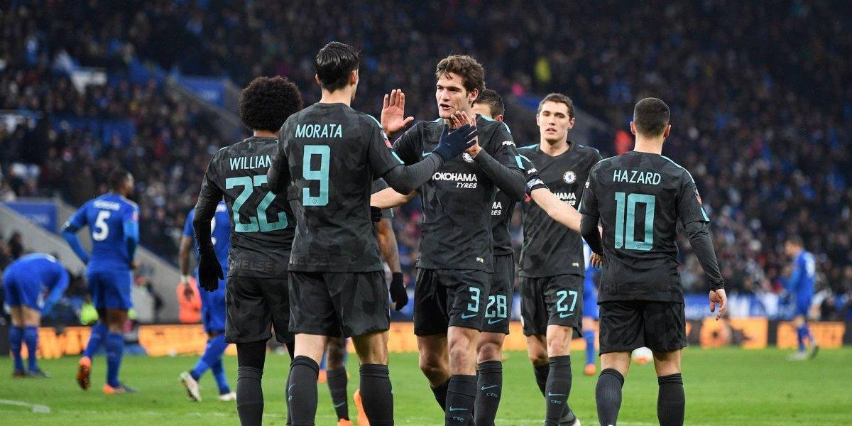 Pedro le da el boleto al Chelsea en semifinales de la FA Cup
