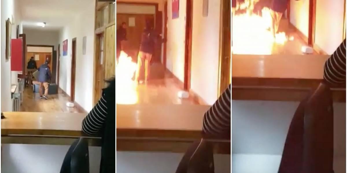"""""""Van a morir todos hijos de puta"""": trató de quemar las oficinas de un municipio luego de que no le renovaran su contrato"""