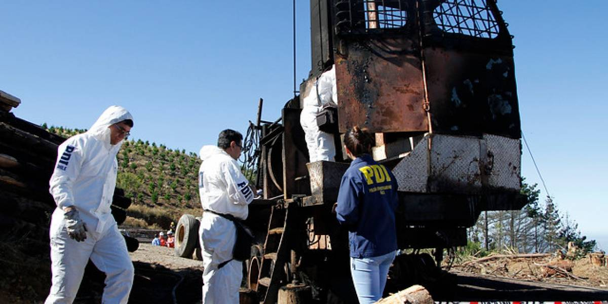 Nuevo atentado incendiario a maquinaria forestal se registró en La Araucanía