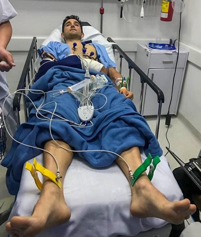 Óscar Sevilla en el hospital