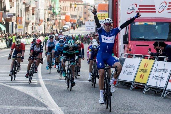 Álvaro Hodeg tras ganar etapa en Volta a Cataluña