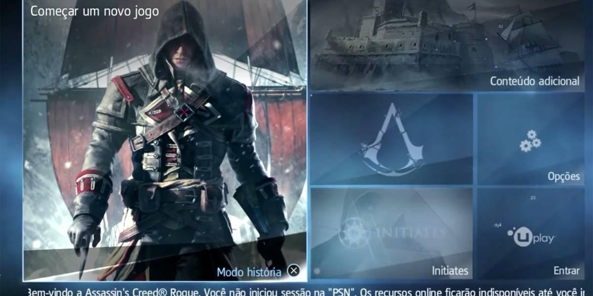 'Assassin's Creed Rogue': 30 minutos de gameplay em português para PS4 Pro