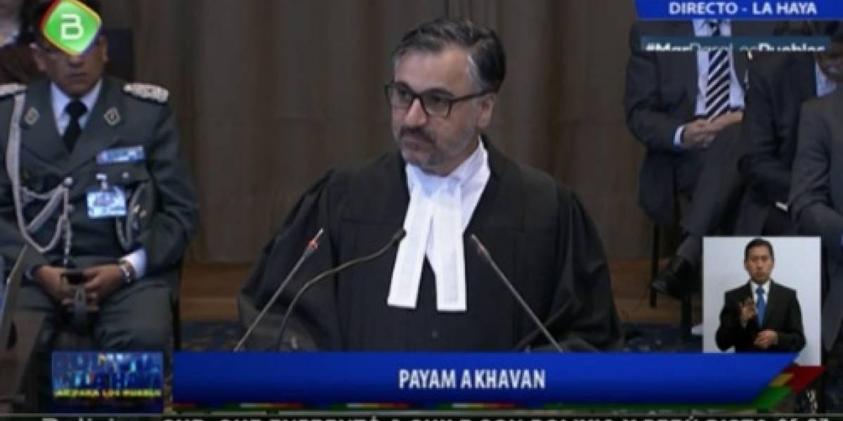 """Alegatos en La Haya: Payan Akhavan: el jurista  iraní  miembro del equipo jurídico boliviano: """"Chile le señaló una salida soberana al mar"""""""