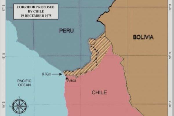 Este fue el mapa que presentó el abogado de Bolivia, Payam Akhavan