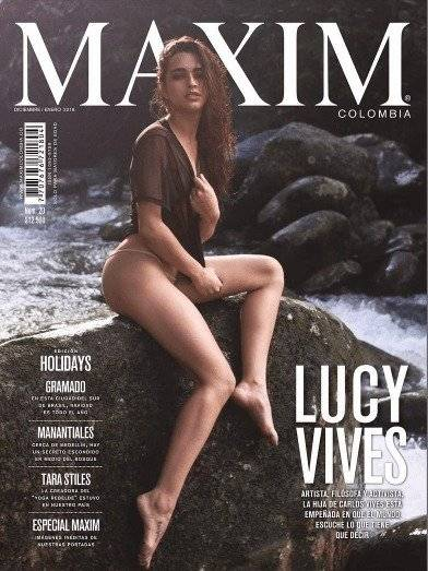 Lucy Vives revista MAXIM