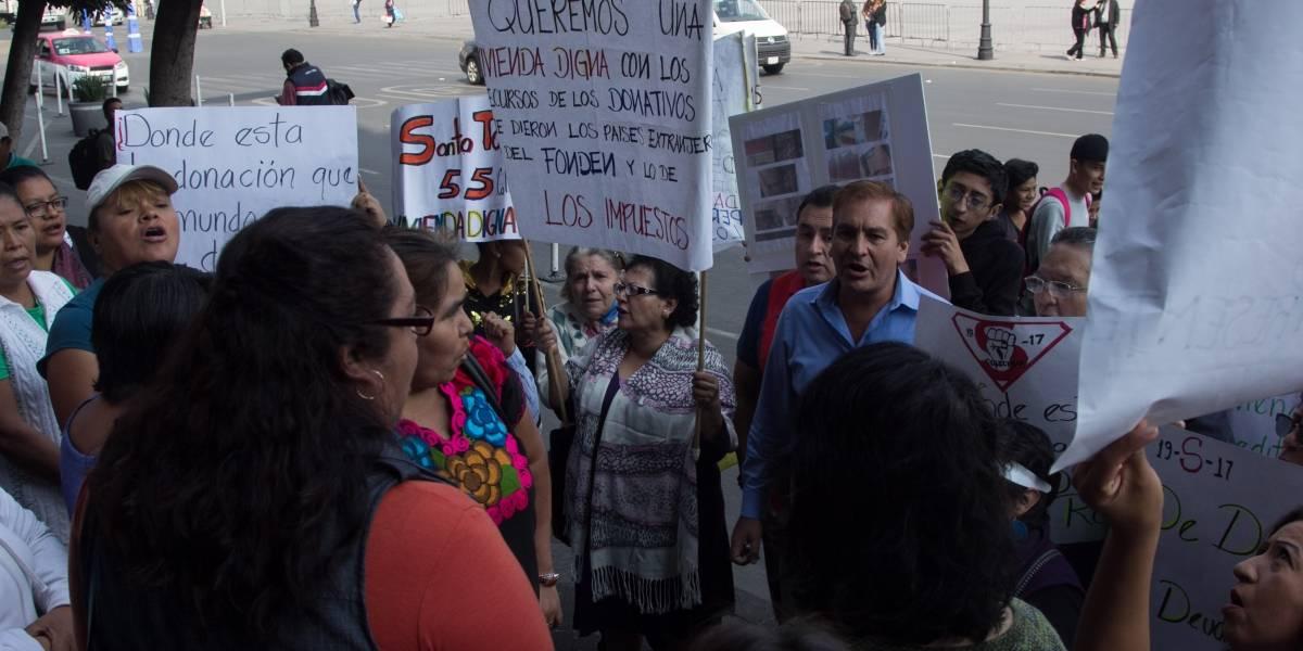 Damnificados del 19-S marcharán este lunes en la CDMX