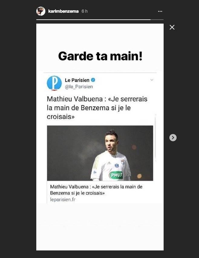 Respuesta de Karim Benzema a Mathieu Valbuena