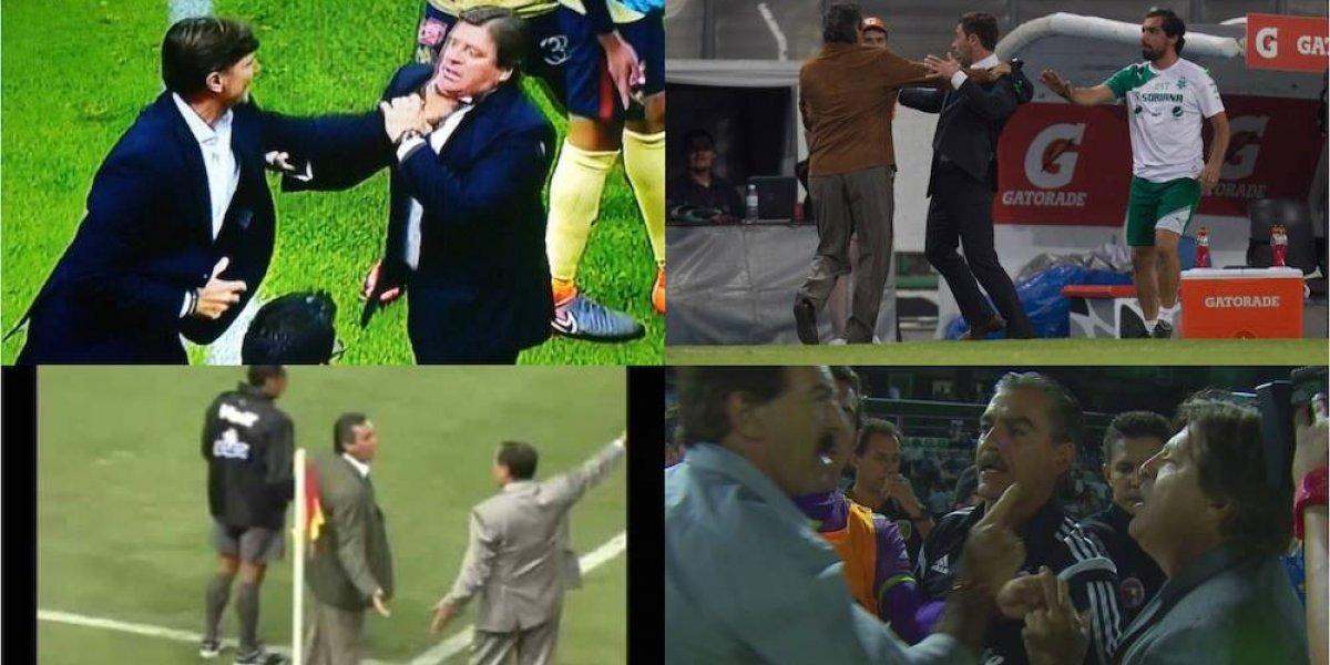 Las broncas entre entrenadores en el futbol mexicano