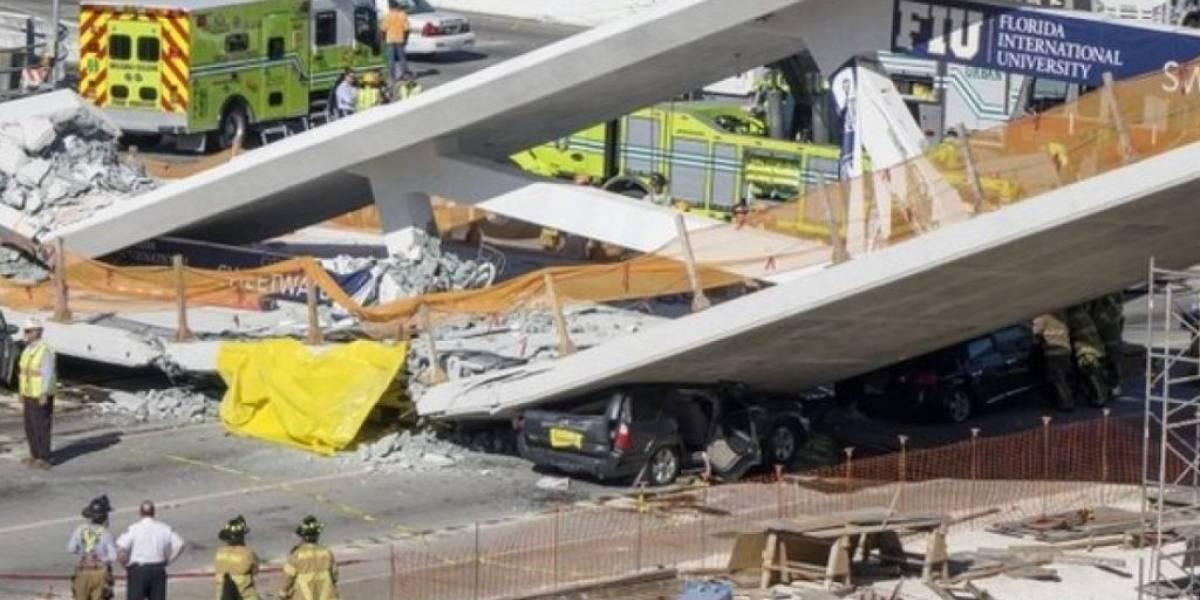 Presentan primera demanda por el colapso de puente peatonal en Miami