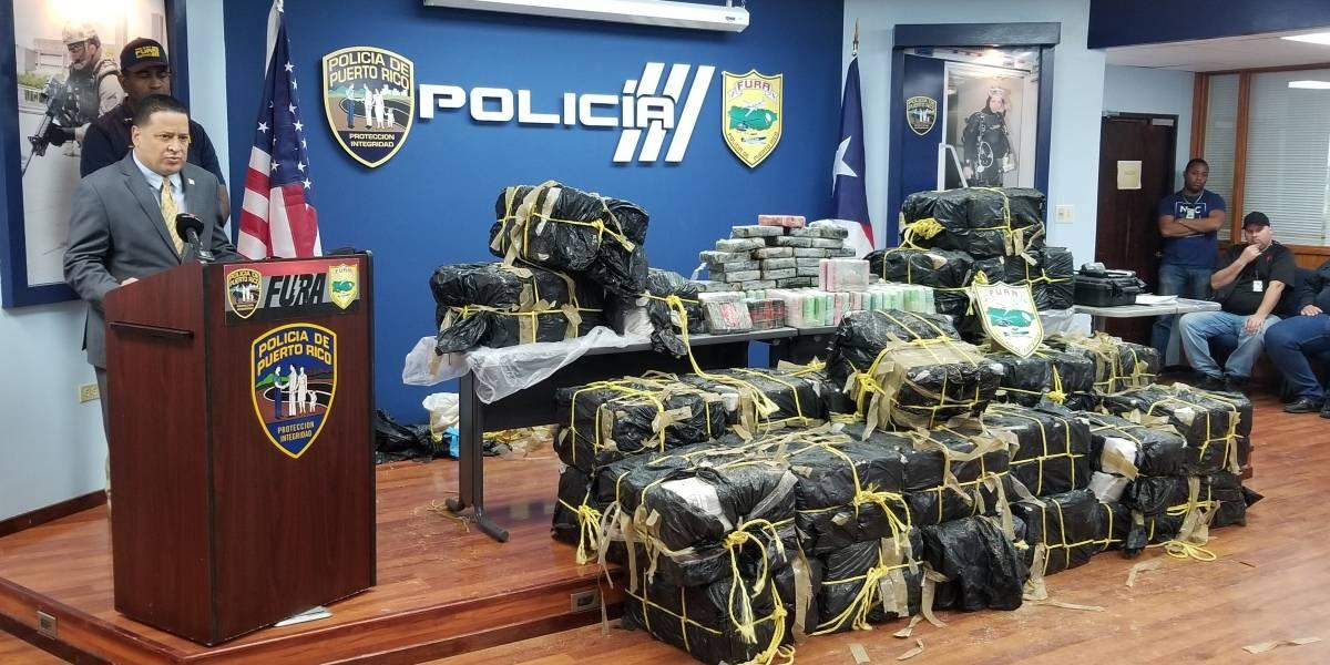Policía ocupa cargamento de drogas más grande en cuatro años