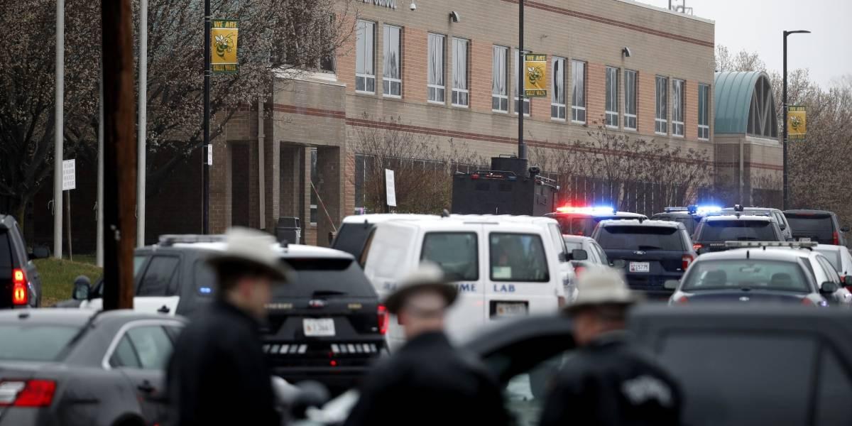 Tiroteo en una escuela secundaria de Maryland deja al menos tres heridos
