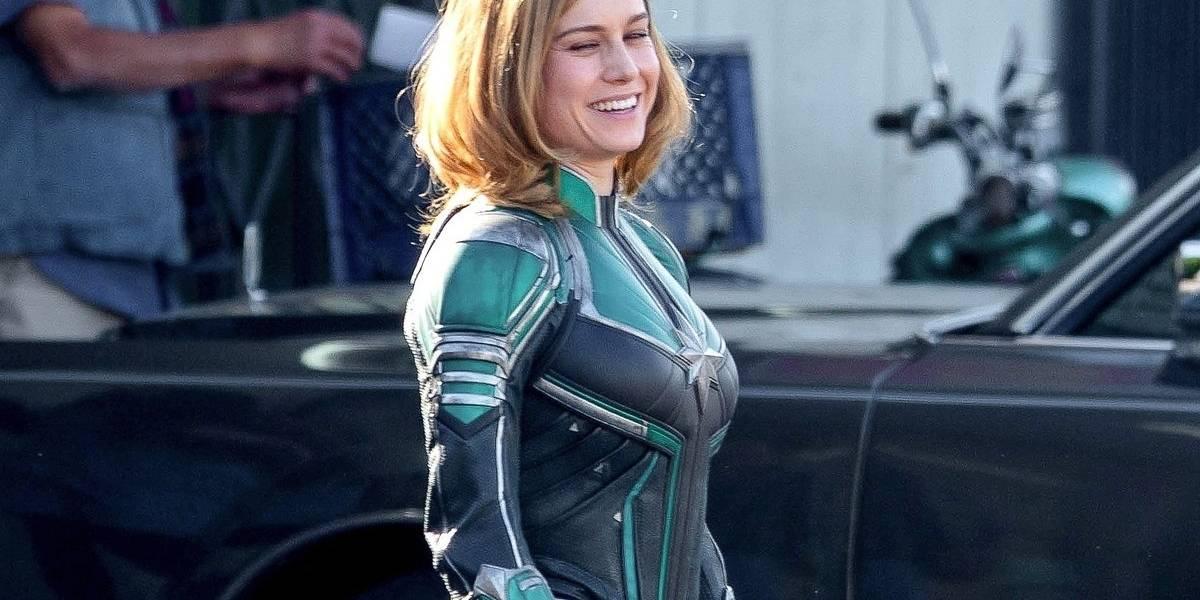 Filtran fotos de la Capitana Marvel con una sonriente Brie Larson