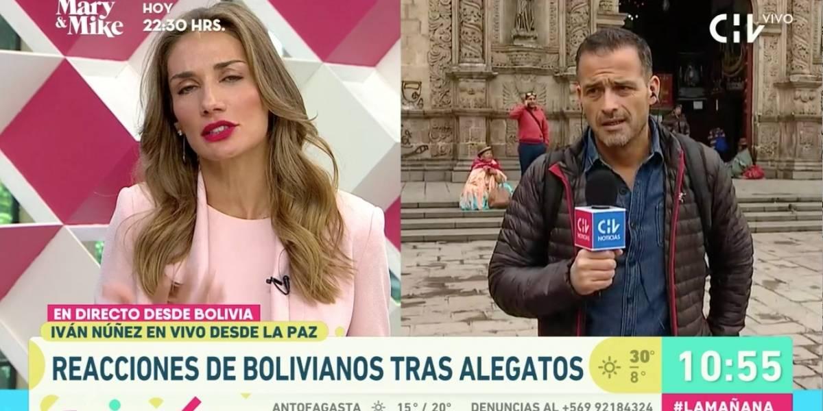 """Las críticas a Iván Núñez y """"La Mañana"""" de CHV por """"ridiculizar"""" y discutir con bolivianos en La Paz"""