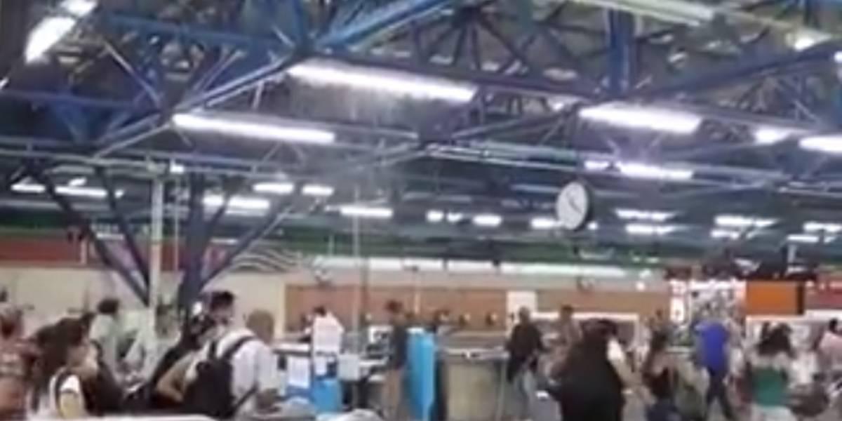 Vídeo mostra chuva dentro da estação Palmeiras-Barra Funda do Metrô