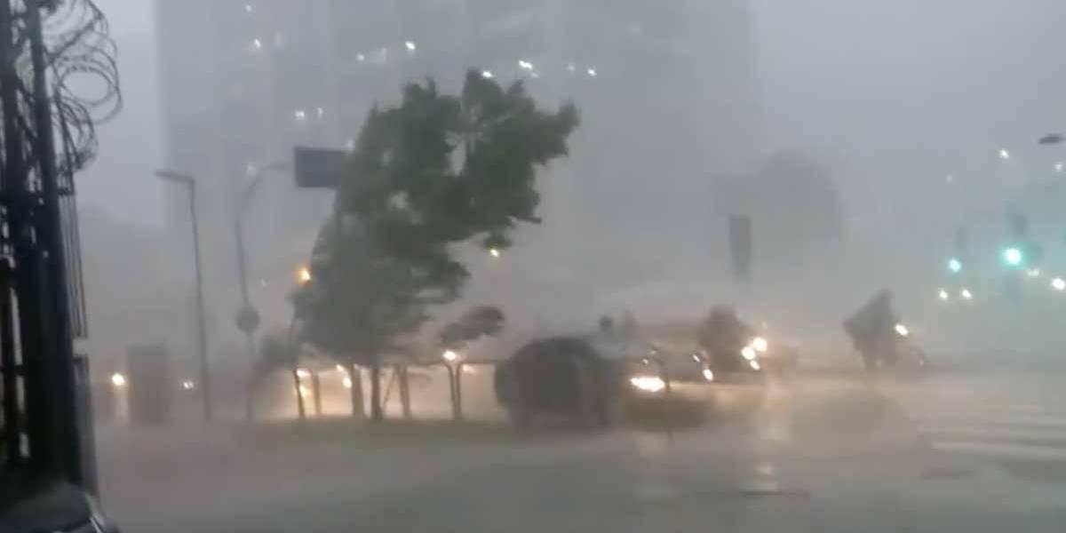 Vídeos mostram a força do temporal que caiu sobre São Paulo nesta terça-feira