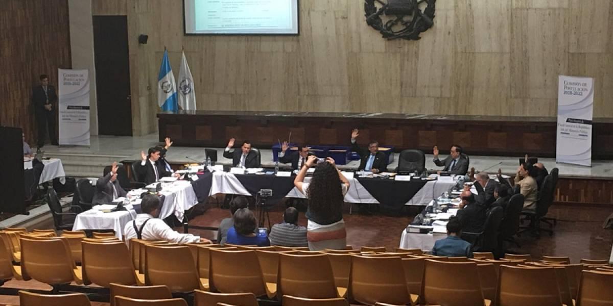 Comisión de Postulación para fiscal general finaliza la revisión de las tachas