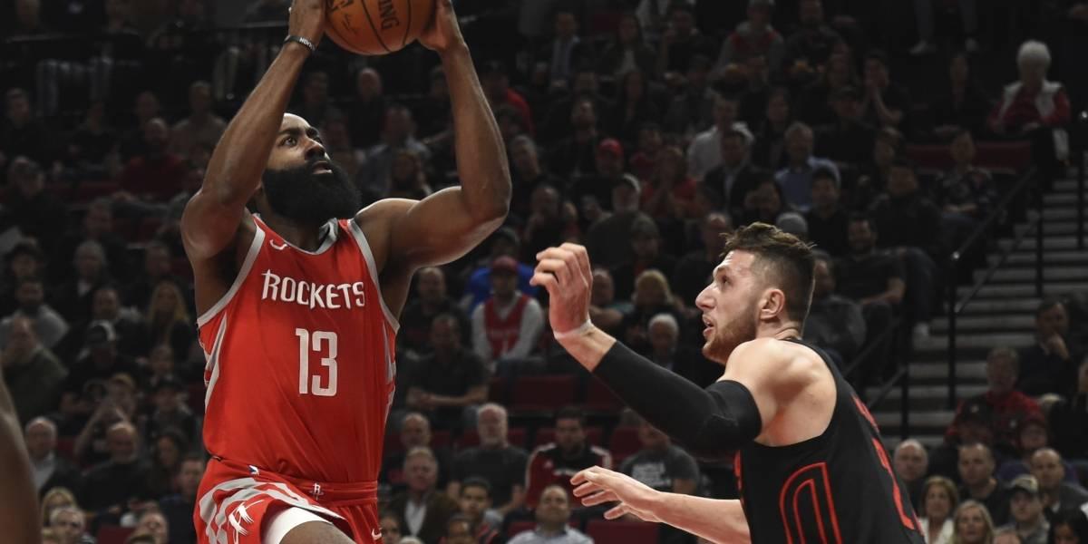 Houston frena racha a Portland y se consolida como el mejor de la NBA
