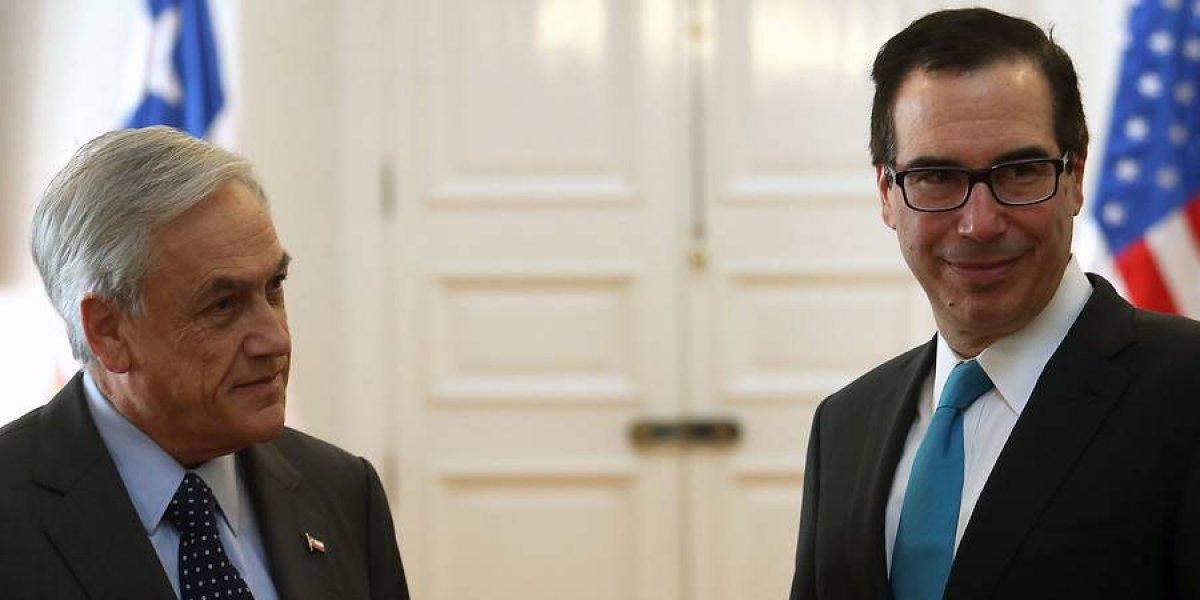 """Secretario del Tesoro de EEUU visito la Moneda: """"Queremos volver a ser el principal socio comercial de Chile"""""""