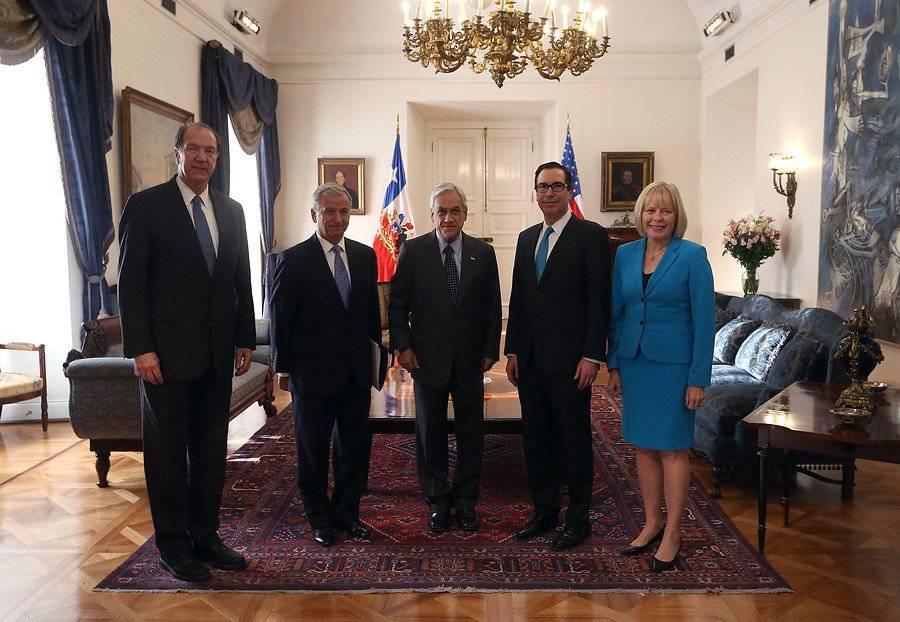 Visita de Secretario del Tesoro EEUU a Chile