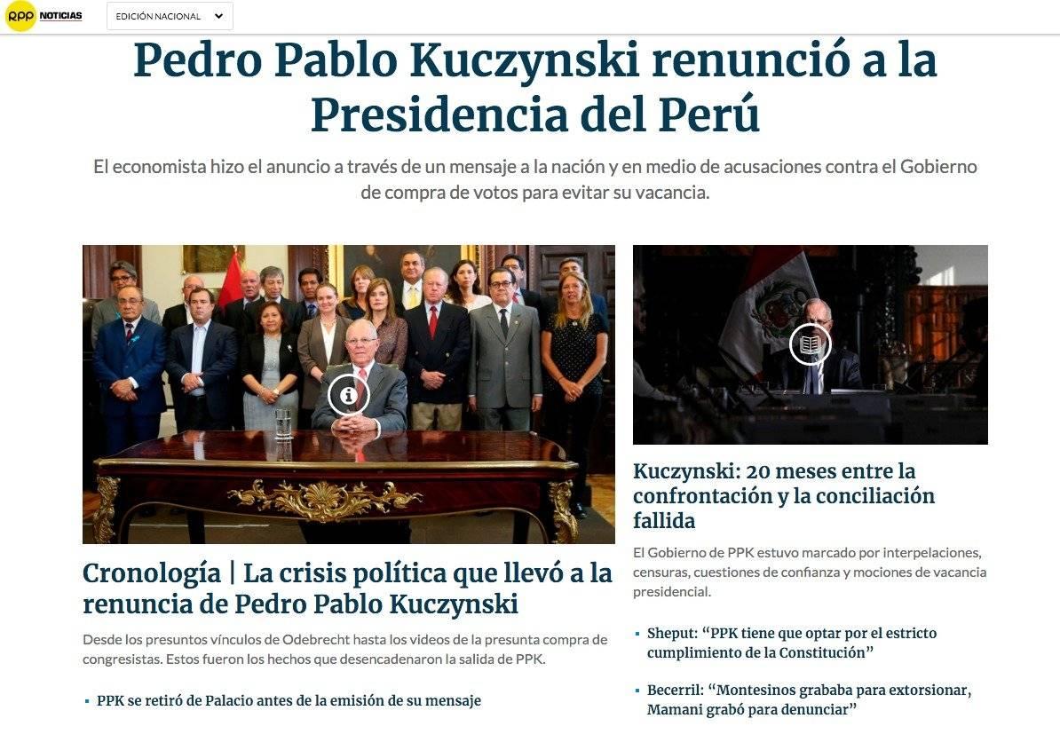PPK deja de ser Presidente