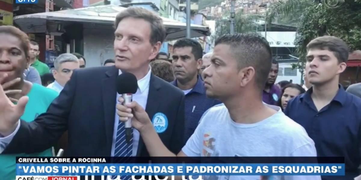 Em vídeo, Crivella diz: Rocinha está muito 'feinha'