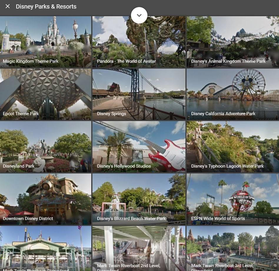 Visita gratis los parques de Disneyland en Google Maps