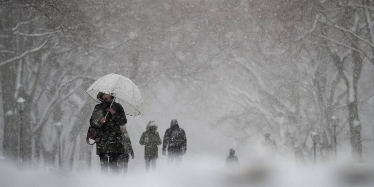 Nueva York se congela de nuevo por una nevasca primaveral