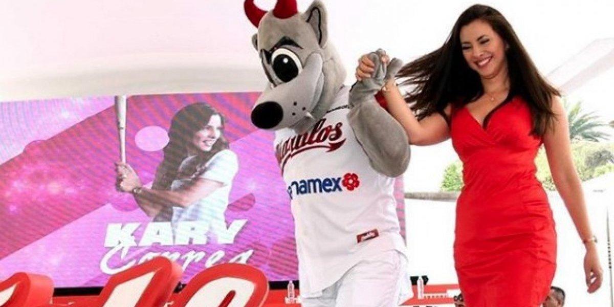 Kary Correa acaparó la atención en la presentación del roster de Diablos Rojos