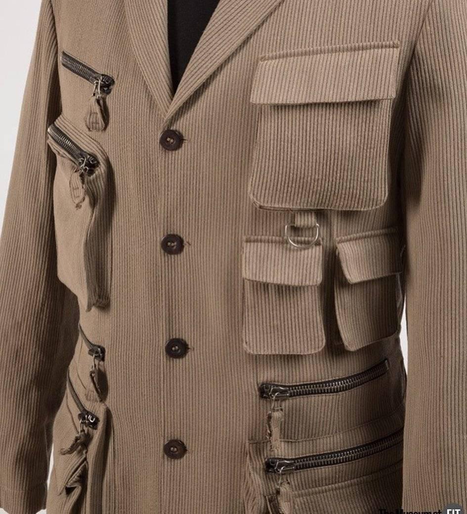 Jean Paul Gaultier Homme, chaqueta de hombre, lana, primavera de 1990, Francia. INSTAGRAM The Museum at FIT