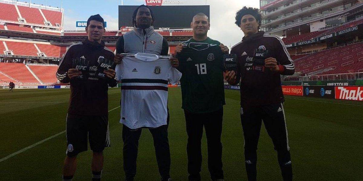 Caín Velásquez visitó a la Selección Mexicana en San Francisco