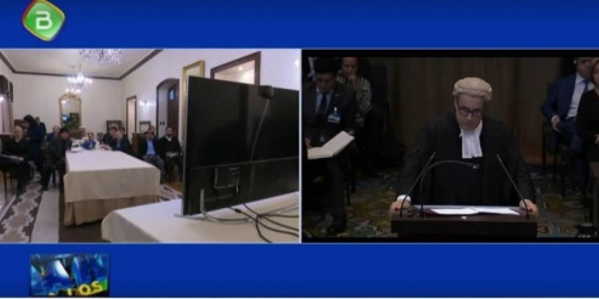 ¿La TV pública boliviana transmitió durante los alegatos orales chilenos?