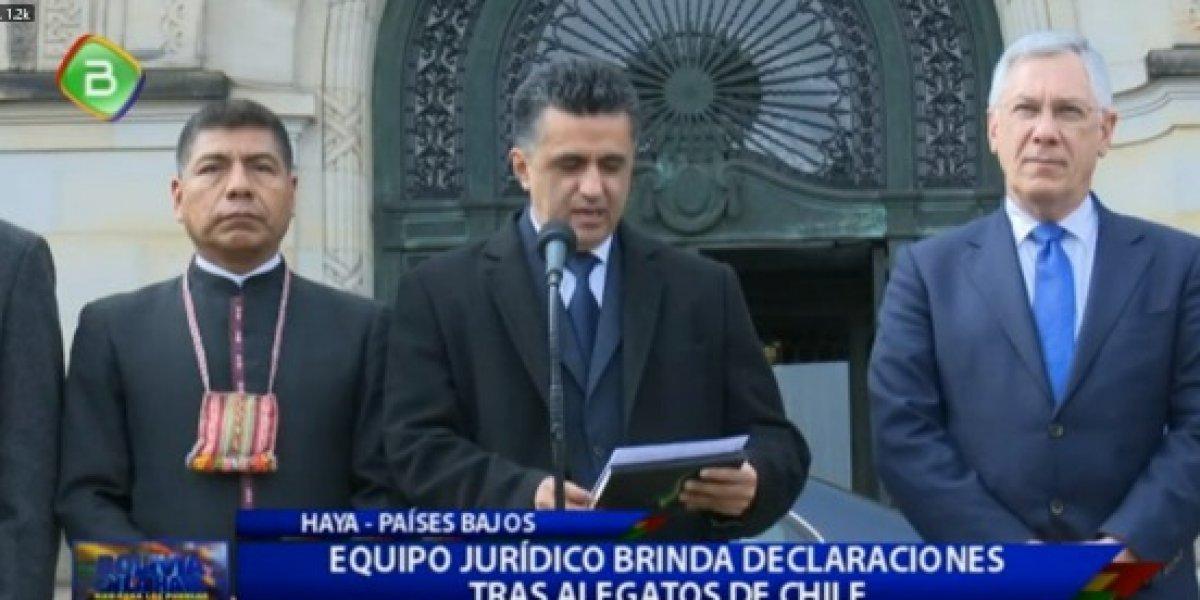 """Delegación boliviana tras alegatos de Chile en La Haya: """"Nos acompaña la verdad"""""""