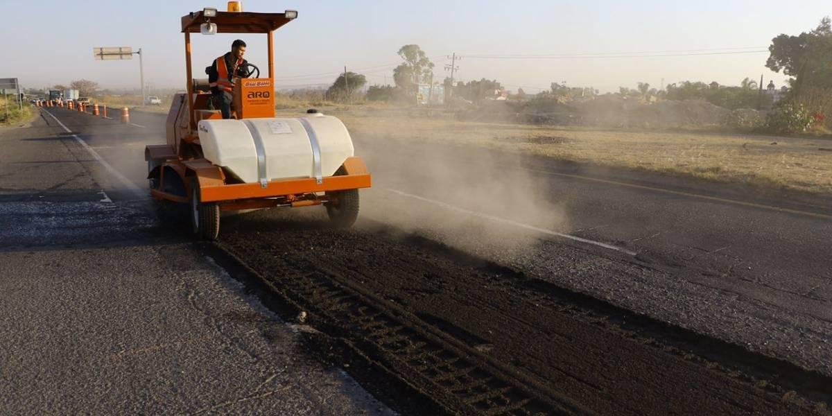 Inician obras de repavimentación en la Carretera a Chapala