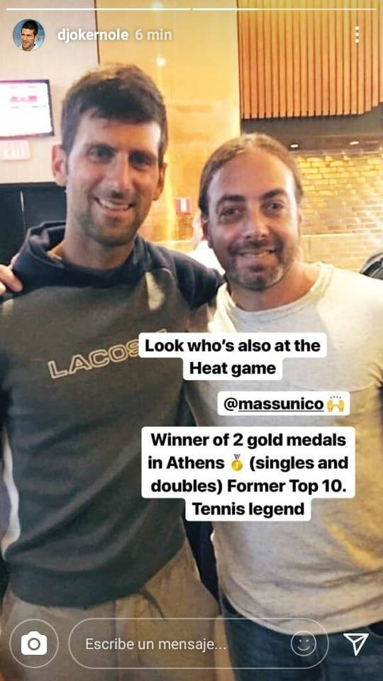 Djokovic y Massú