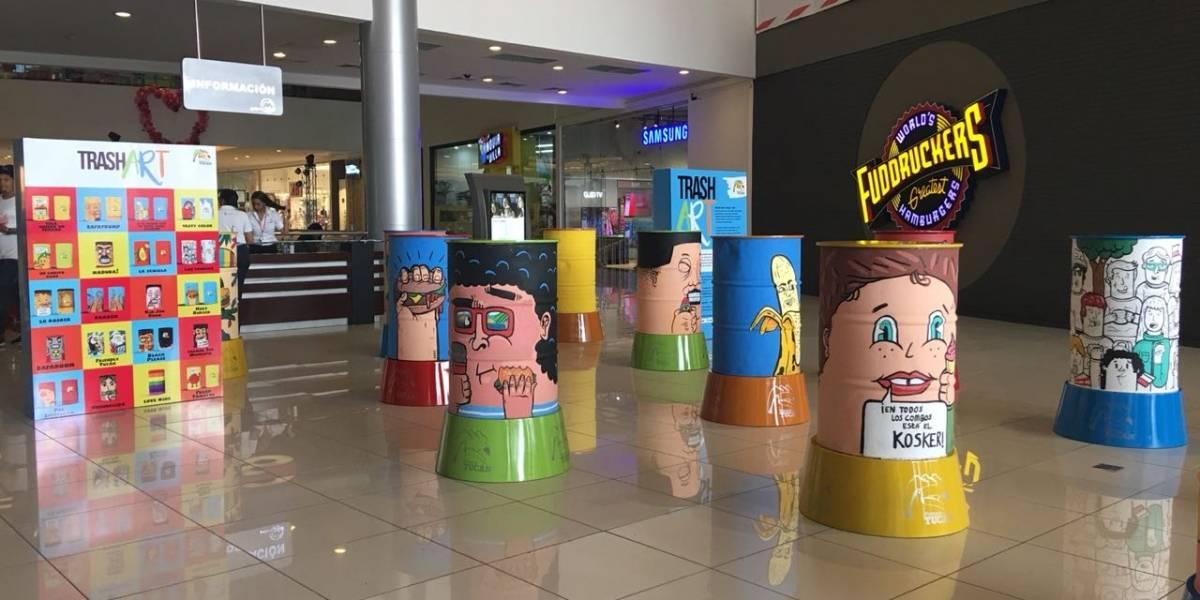 """""""Trash Art Tucán"""": Tanques reciclados convertidos en arte"""