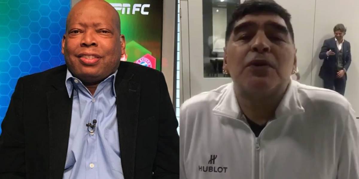 Faustino Asprilla hizo 'indecente' invitación a Diego Maradona