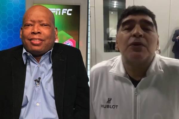 Tino Asprilla invitó a tomar a Diego Maradona