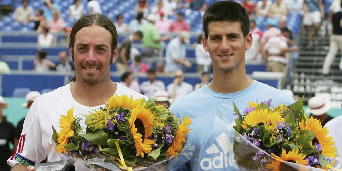 """Djokovic se emociona al encontrarse con Massú en Miami: """"Leyenda del tenis"""""""