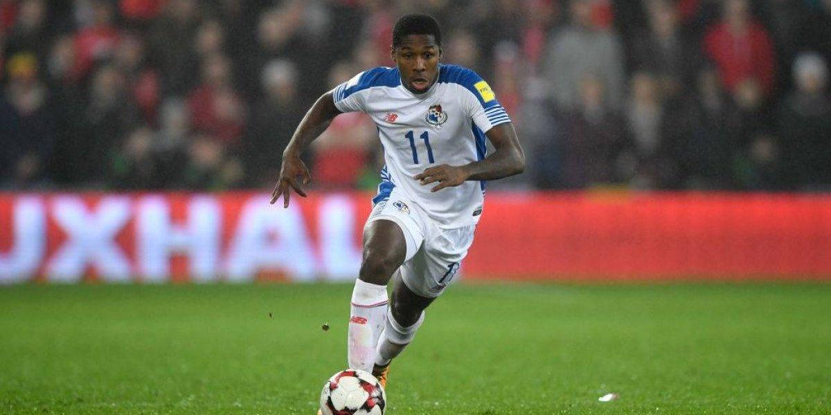 Armando Cooper sumó sus primeros minutos del año con la selección de Panamá
