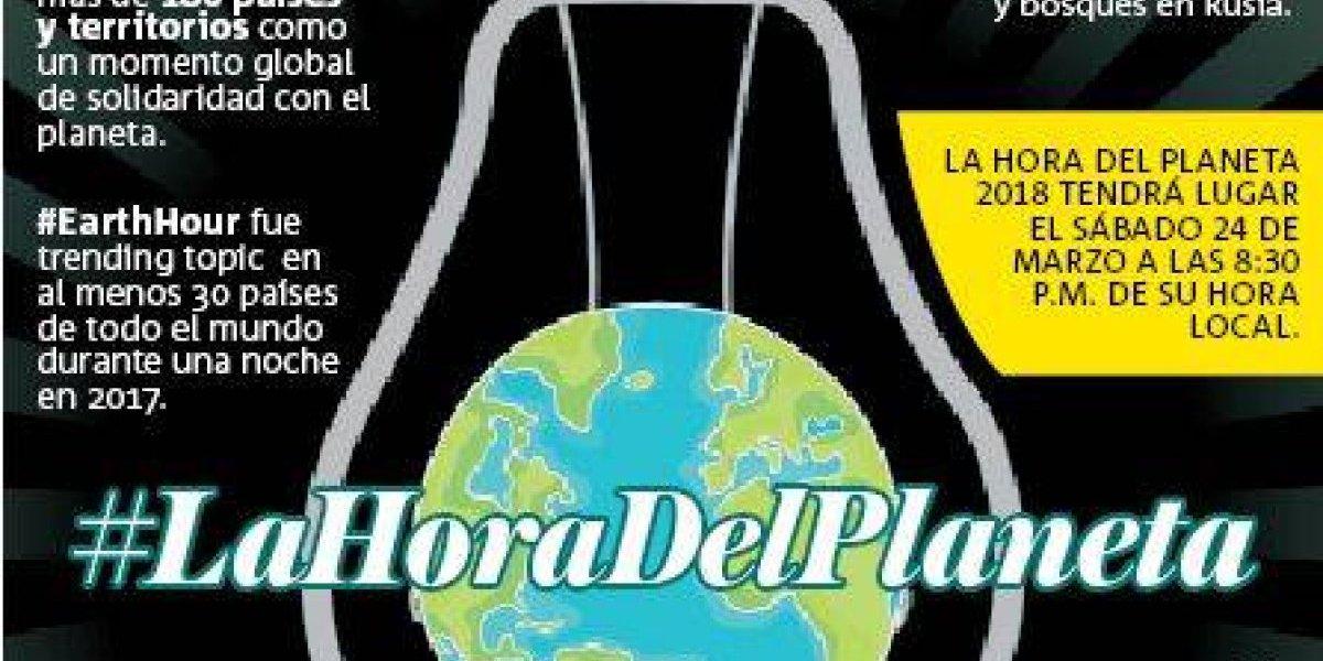 La Hora del Planeta busca proteger la naturaleza y combatir el cambio climático