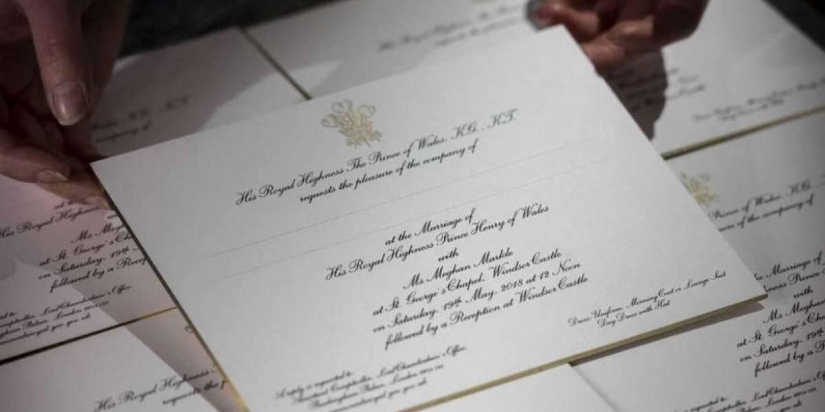 Enviadas invitaciones a la boda real de Enrique y Markle