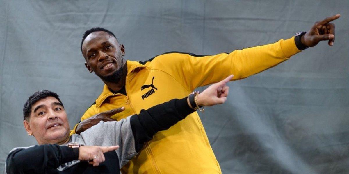 Múltiple campeón olímpico y mundial, Usain Bolt, inicia su sueño de ser futbolista