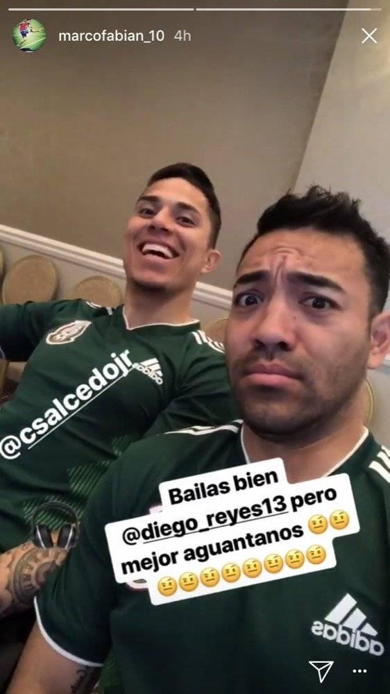 """Marco Fabián """"trolleó"""" a Diego Reyes"""