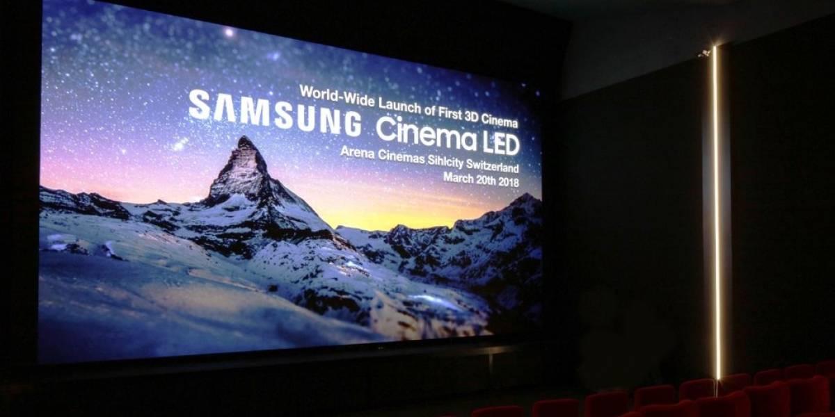 Samsung quiere reemplazar el proyector de cine con su pantalla Cinema LED