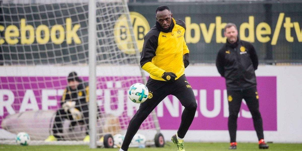 Usain Bolt tiene su primer entrenamiento con el Borussia Dortmund