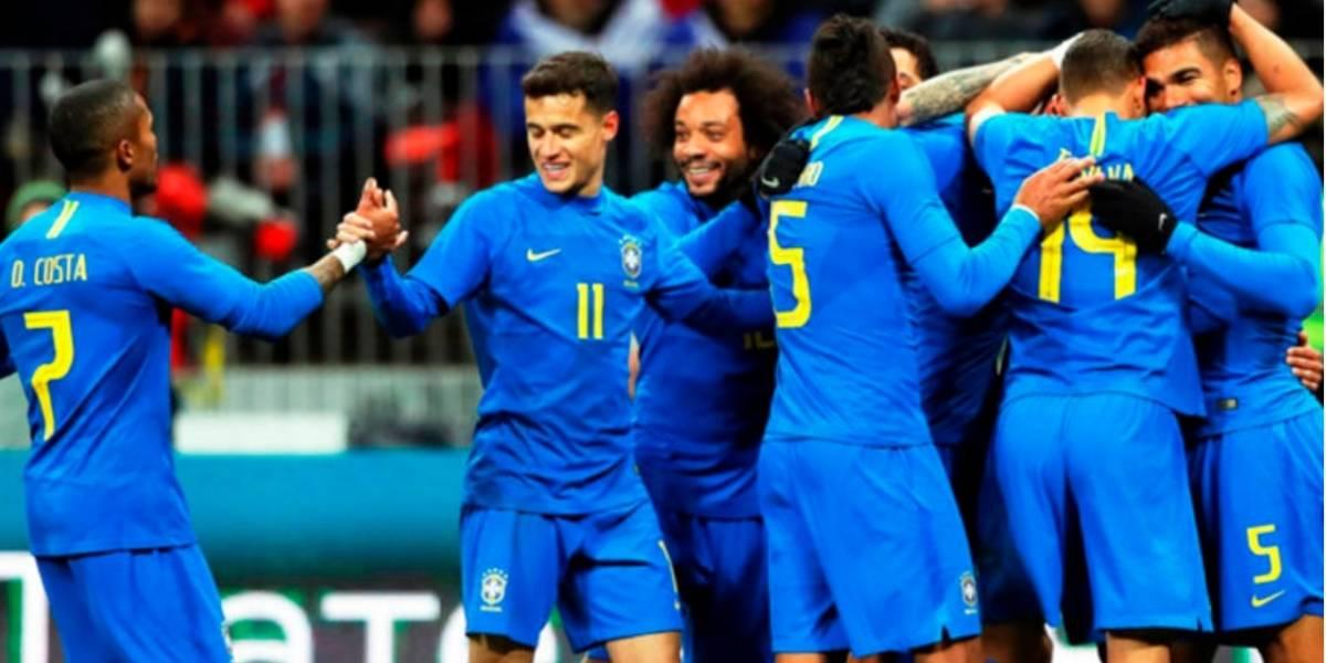 Brasil llena las expectativas ante el anfitrión del Mundial 2018