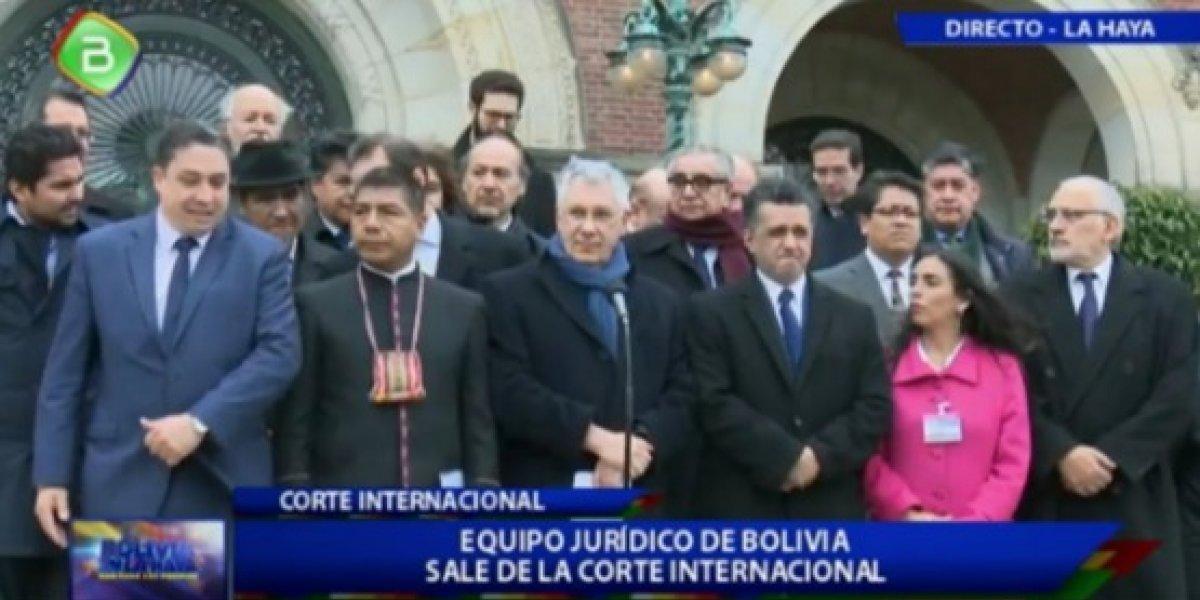 """Delegación boliviana en La Haya llama a celebrar el Día del Mar """"con sentimientos de paz"""""""