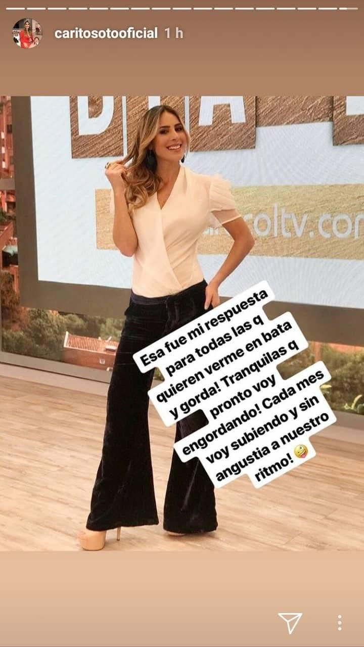 Carolina Soto instagram stories
